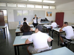 File photo: High school students attending during class, in the southern Israeli city of Ashdod.