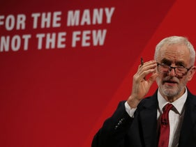 Opposition Labour party leader Jeremy Corbyn launches Labour's Race and Faith Manifesto in north London on November 26, 2019