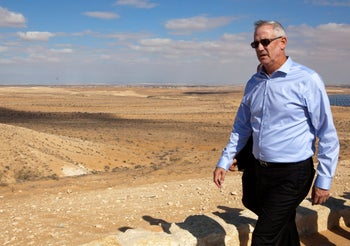 Benny Gantz near Sde Boker, December 2019.