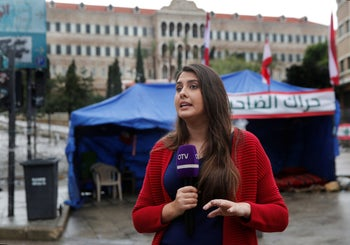 Rima Hamdan reports from anti-government protests, in downtown Beirut, December 5, 2019