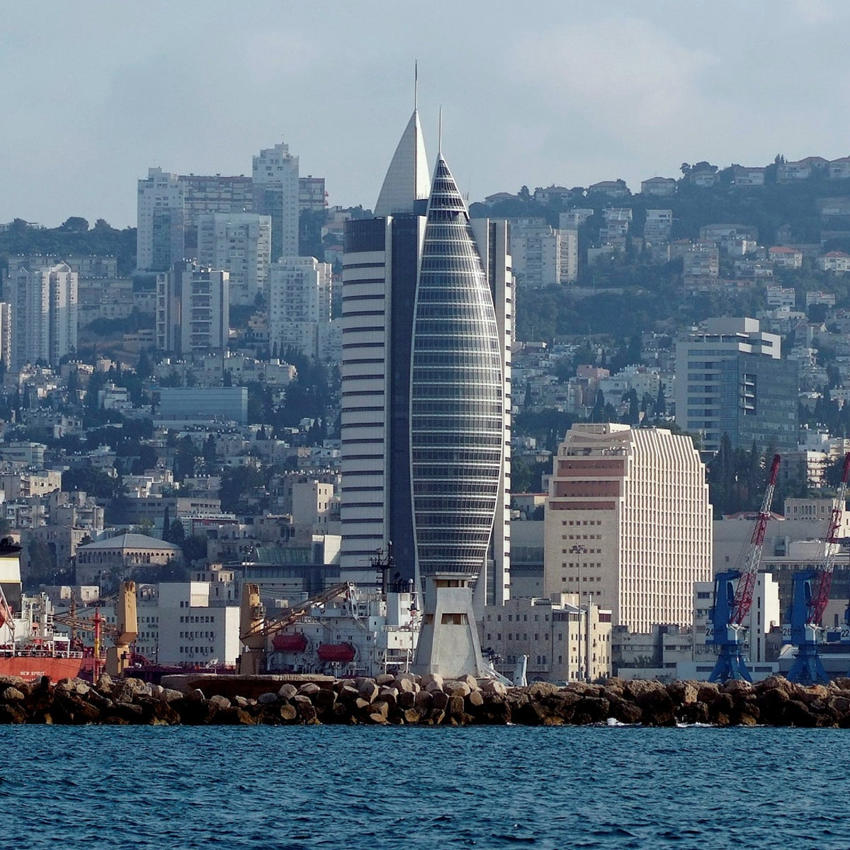 Haifa seen from the sea. Should have been the biggest winner from the national housing shortage on paper.