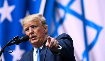 Trump addresses the Israeli American Council National Summit 2019, Hollywood, Florida, December 7, 2019.