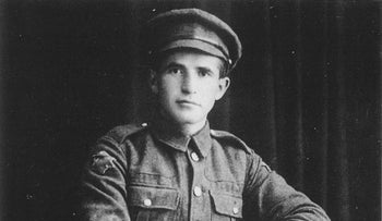 David Ben-Gurion while a member of the British Army's Jewish Legion, 1918.