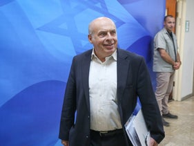 Natan Sharansky attending a cabinet meeting in Jerusalem in 2017.