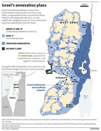 Israel's annexation plans
