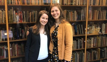 Israel's 2020 Rhodes scholars Anat Peled, left, and Lev Cosijns.