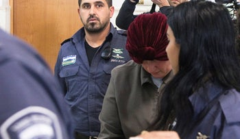Malka Leifer, a former Australian school principal who is wanted in Australia on suspicion of sexually abusing students, at the Jerusalem District Court, February 14, 2018.