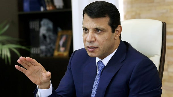 Mohammed Dahlan, a former Fatah security chief, gestures in his office in Abu Dhabi, United Arab Emirates October 18, 2016.