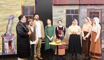 """A scene from Beit Hillel's """"Fiddler on the Roof."""""""