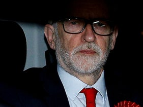 Britain's opposition Labour Party leader Jeremy Corbyn leaves the Labour Party's headquarters following the general election in London, Britain December 13, 2019