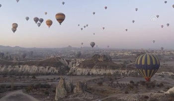 Record number of tourists visit Turkey's Cappadocia