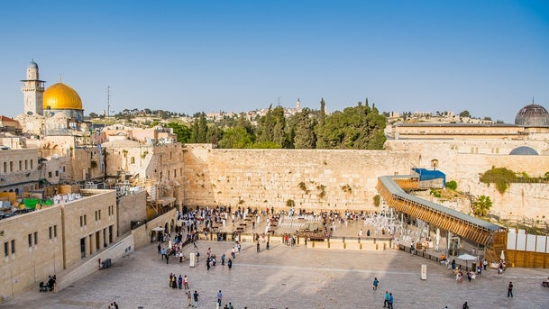 The Western Wall in the Old City of Jerusalem