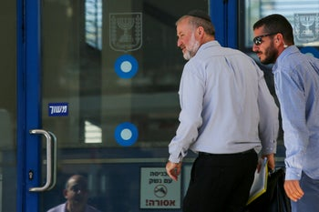 Israel's attorney general Avichai Mandelblit arrives at the Ministry of Justice in Jerusalem on Thursday, October 3, 2019.