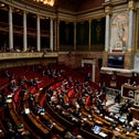A view of the French National Assembly in Paris, December 2019.