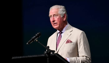 Prince Charles speaks to staff and students during a visit to Cashmere High School in Christchurch, New Zealand November 22, 2019.