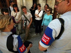 TIPH observers in Hebron, 2009.