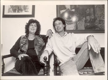 Geulah Cohen with her son Tzachi Hanegbi, currently the regional cooperation minister, in 1986.