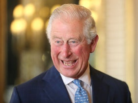Prince Charles, Prince of Wales, laughing during the Queen Elizabeth Prize for Engineering at Buckingham Palace, London, December 3, 2019.