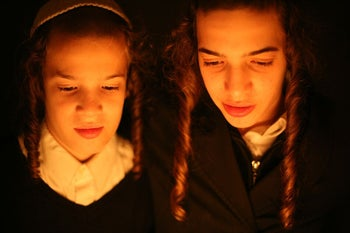 Hasidim from around the world, including these boys in Jerusalem, are the subjects of the work of Polish photographer Agnieszka Traczewska