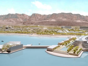 Computer simulation of the Dead Sea hotel project.