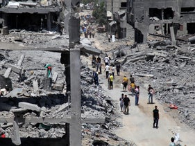 Destruction in Gaza during Operation Protective Edge, in the summer 2014.
