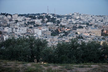 A general view of Hebron from the Tel Rumeida section.
