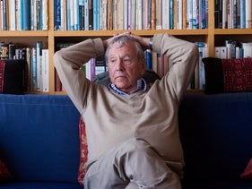 Amos Oz at his Tel Aviv home, March 1,2013.