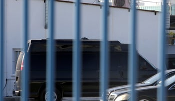 A van confiscated in the city of Larnaca is seen parked in the Police Headquartes in Nicosia, Cyprus, November 17, 2019.