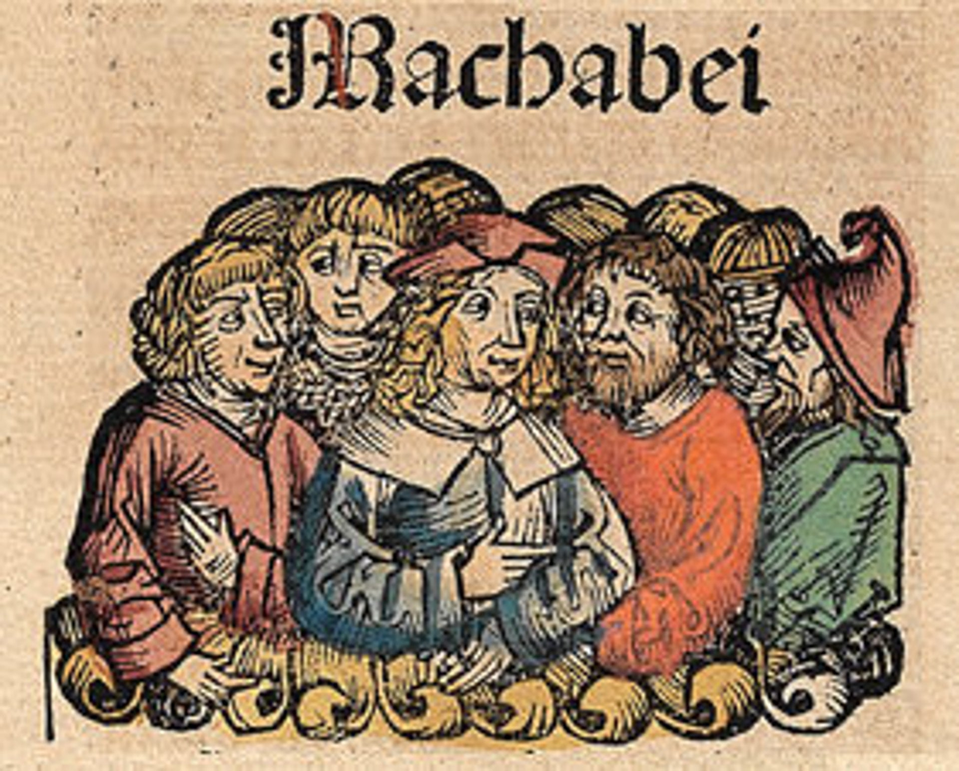 The Maccabees, from the Nuremberg Chronicle, by Hartmann Schedel (1493).