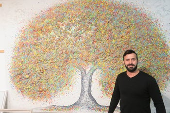 Sam Halabi, a 30-year-old artist who says he began working as an artist at the age of 12.