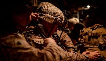 U.S. Marines assigned to Special Purpose Marine Air-Ground Task Force-Crisis Response-Central Command 19.2, prepare to deploy from Kuwait in support of a crisis response mission, December 31, 2019.