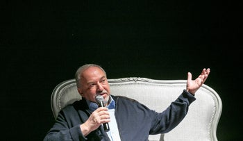 Avigdor Lieberman in a cultural event in Tel Aviv, December 2019.