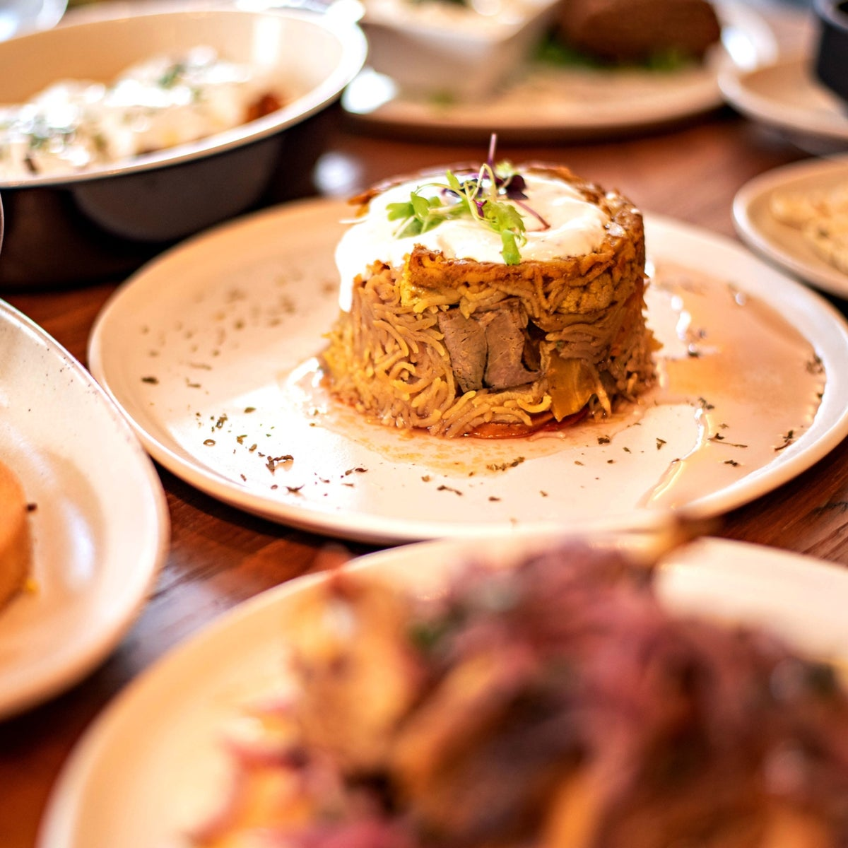 One of the popular dishes is the makloubeh, which features basmati rice, lamb stew, eggplant, cauliflower, carrots, tomatoes and spices.