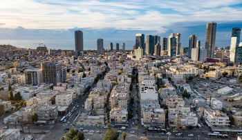 A view of south Tel Aviv, January 1, 2020.