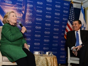 Hillary Clinton and Jewish-American billionaire Haim Saban, 2016.