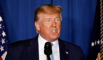 Donald Trump delivers remarks following the U.S. Military airstrike against Iranian General Qassem Soleimani, in West Palm Beach, Florida, U.S., January 3, 2020.