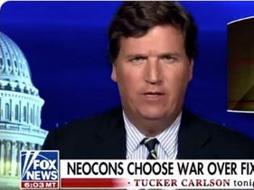 """Tucker Carlson's broadside against """"neocons"""" eager for war with Iran, in the wake of the killing of Qassem Soleimani ordered by President Trump. January 4, 2019"""