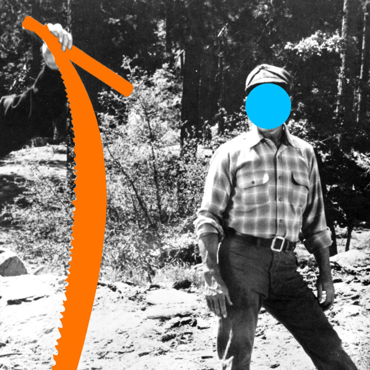 Two Person Saw (Orange): With Standing Person (Blue), 2004
