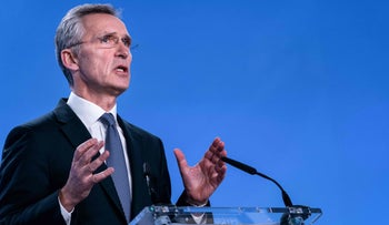 NATO Secretary General Jens Stoltenberg speaks during a press conference at NATO Headquarters in Brussel, January 6, 2020.