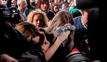 A 19 year-old British woman that was found guilty of making up claims she was raped by up to 12 Israelis arrives at Famagusta District Court, Cyprus, January 7, 2020.