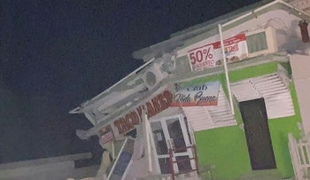 A shop is seen collapsed after an earthquake in Guanica, Puerto Rico January 7, 2020