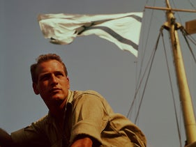 "Paul Newman in ""Exodus."""