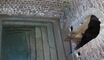 The medieval mikveh, or ritual bath, in Speyer, Germany, April 26, 2006