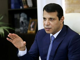 Mohammed Dahlan, former Fatah security chief, gestures in his office in Abu Dhabi, United Arab Emirates October 18, 2016.