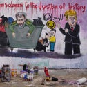 Aziz Asmar, one of two Syrian painters who completed a mural following the killing of Iranian commander Qassem Soleimani, posing next to his creation in the town of Binnish, northwestern Idlib province, Syria, on January 3, 2020.