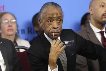 Rev. Al Sharpton listens to remarks at the National Action Network House of Justice, New York, January 15, 2018.