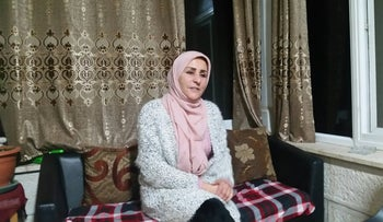 Sura Tawil at her home in Ramallah, the West Bank, January 2019.