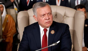 Jordan's King Abdullah II attends the 30th Arab Summit in Tunis, Tunisia March 31, 2019.