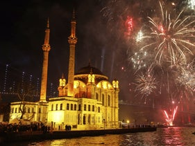 A New Year's Eve celebration in Istanbul, Turkey, January 1, 2020.