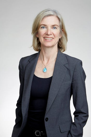 Prof. Jennifer Doudna who won the Wolf Prize in Medicine with French biochemist Prof. Emanuelle Charpentier for spearheading discovery of the revolutionary gene-editing tool CRISPR-Cas9, in November.